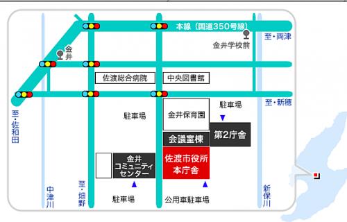 本庁舎地図