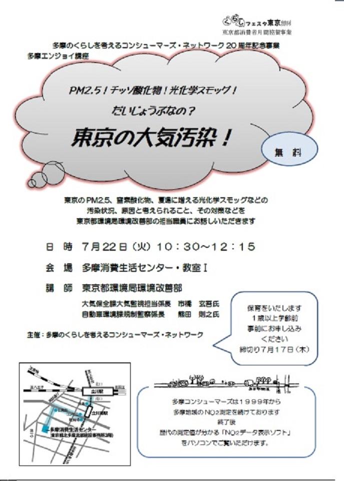 東京の大気汚染