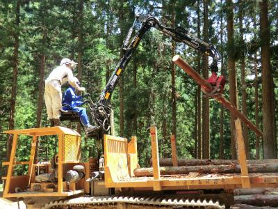 高性能林業機械 フォワーダ