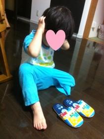 義足なしスリッパ1(2歳8ヵ月)