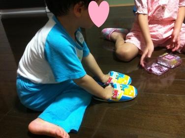 義足なしスリッパ2(2歳8ヵ月)