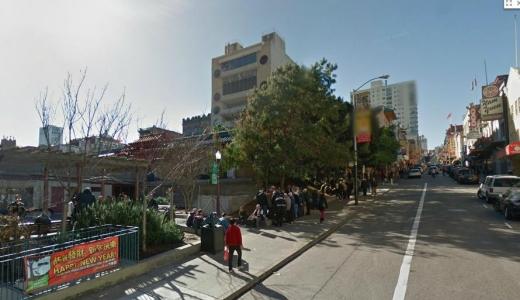 アメリカ・サンフランシスコ中華街 ポーツマス広場