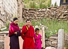 中国青海省チベット族コミュニティ家族