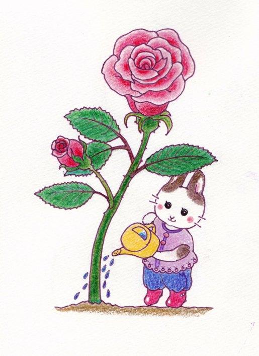 バラとうさぎ2014-2