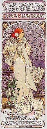 ミュシャポスター 椿姫