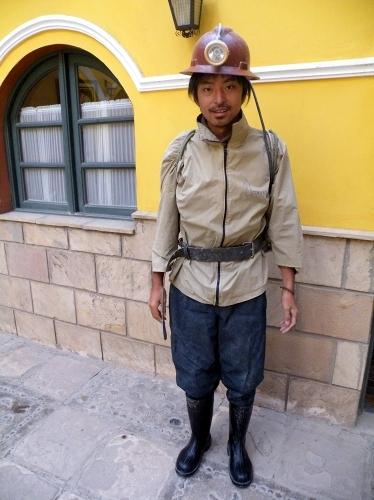 鉱山に入る服装