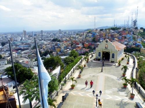 グアヤキル カラフルな家々 景色