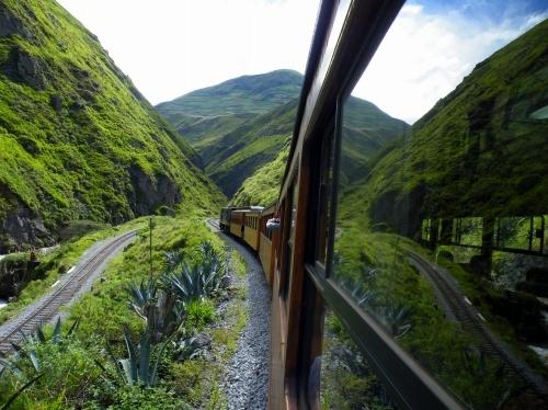 エクアドルの鉄道 スイッチバック