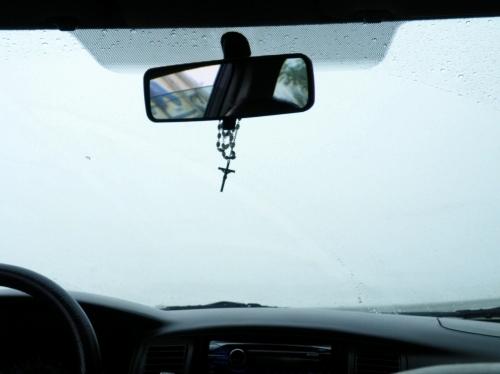 霧の中 タクシー