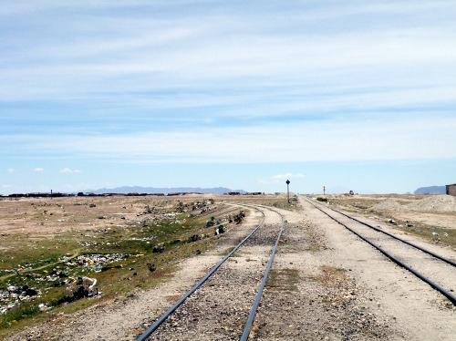 線路を歩く