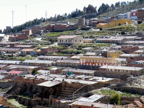 鉱山で働く人の宿舎