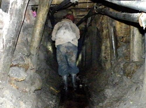 ポトシの鉱山ツアー