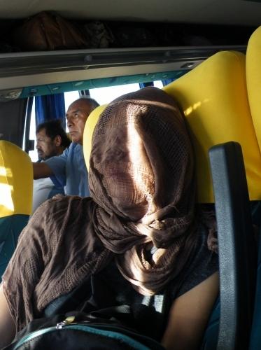 ラパス行きのバス