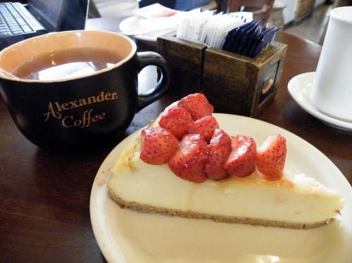 ブルーベリーカフェ チーズケーキ