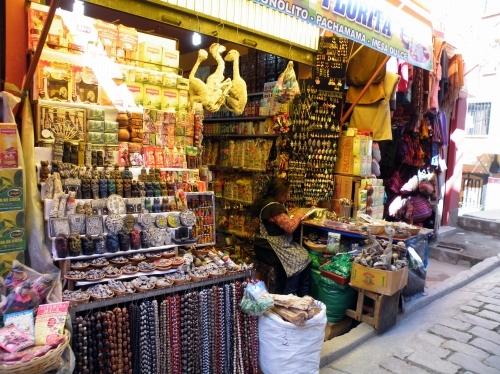 干乾びたリャマ 魔女の店