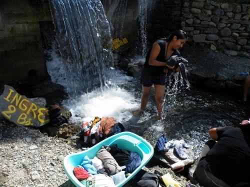 滝つぼ 洗濯
