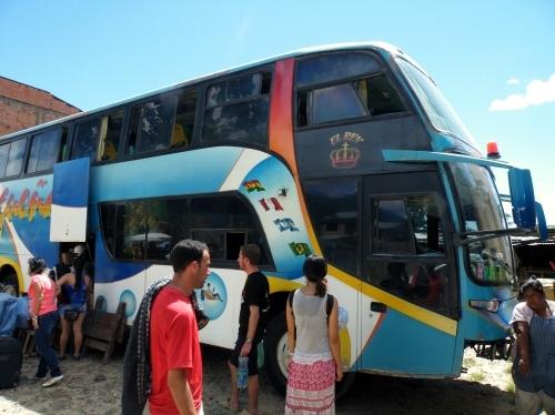 ラパス行き バス