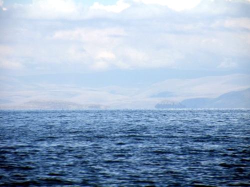 チチカカ湖 ボート 景色