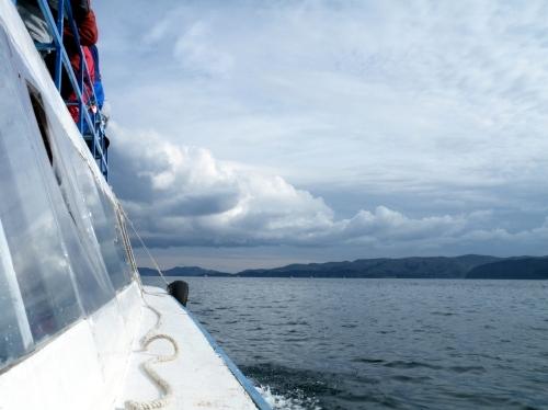 チチカカ湖 ボート