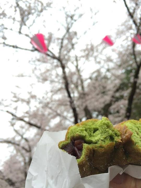 春の新作ドーナツ 抹茶あずき