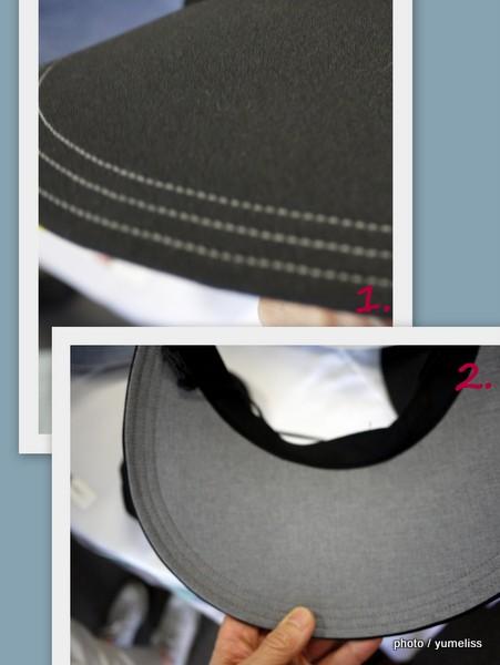 ベルメゾンUVカット帽子