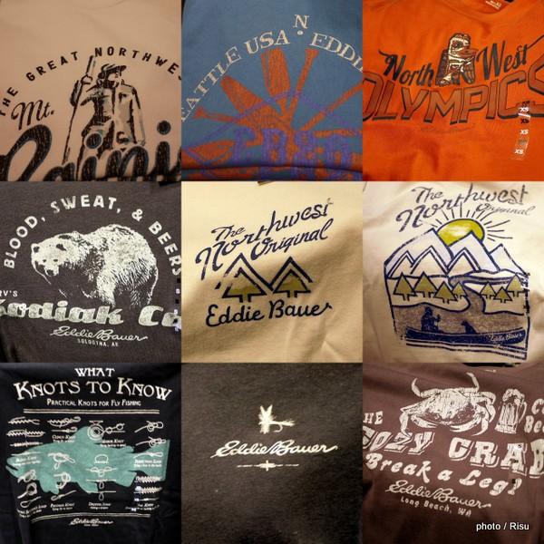 エディー・バウアー「シアトルデザインのTシャツ」