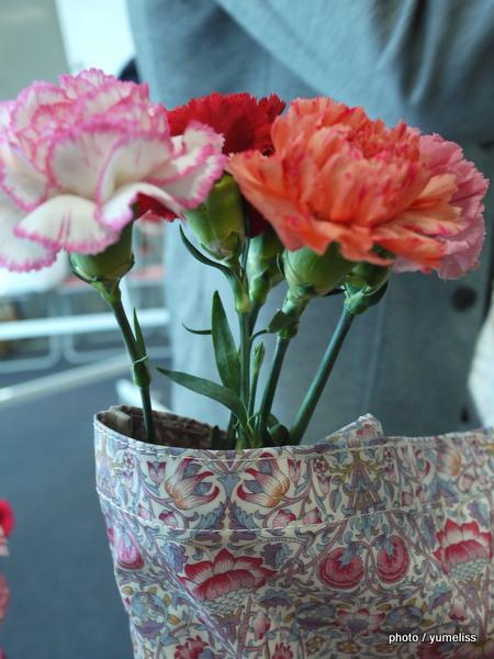 日比谷花壇リバティプリント トートバッグ「ロデン」