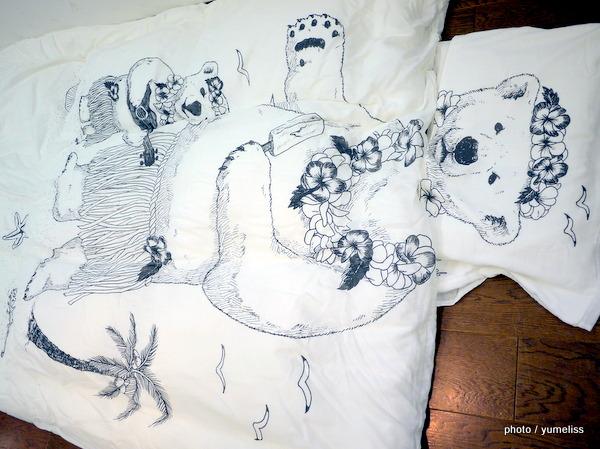バサッと掛ければ変身 夢がかなった動物たちのダブルガーゼケット