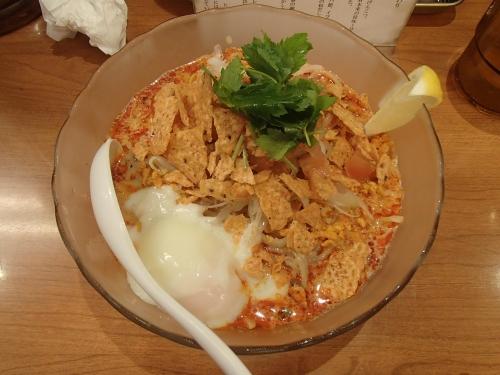 福の神食堂 限定麺 冷やチェダー担担麺+温玉_convert_20140823195533