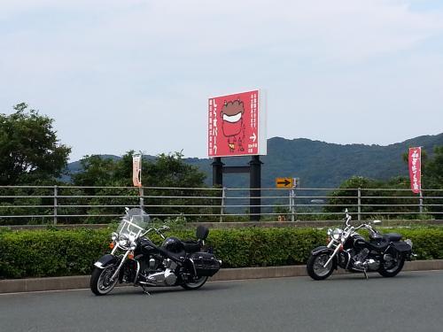 道の駅2バイク二台