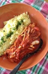 イカのトマト煮 サフランライス添え