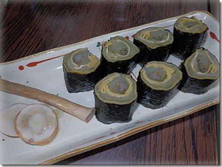 ミガシキ海苔巻き、おつまみ