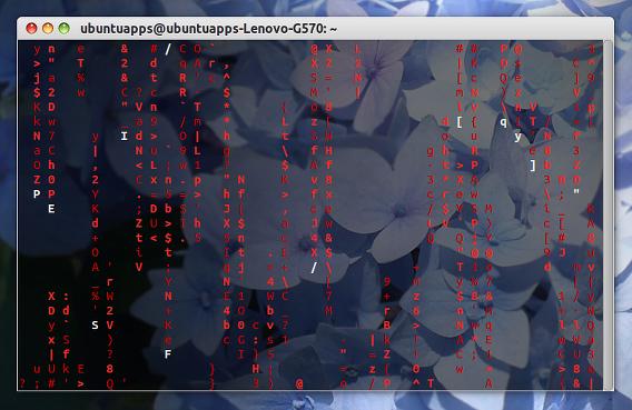 CMatrix Ubuntu 端末 スクリーンセーバー カラーオプション