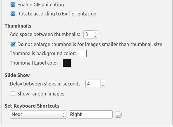 Phototonic Ubuntu 画像ビューア オプション