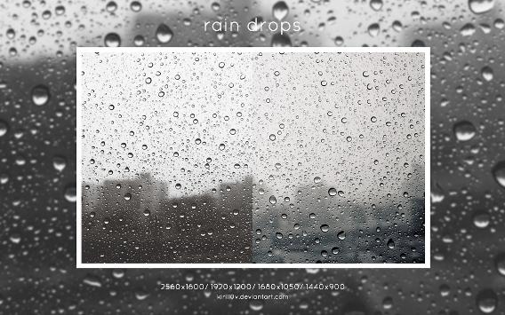 Rain Drops Ubuntu 壁紙