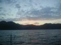 越前漁港の朝日