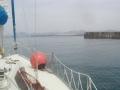 鳥取砂丘に向かって入港