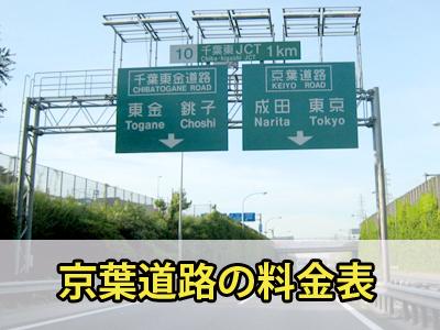 京葉道路の料金表