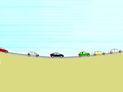 サグ部での渋滞