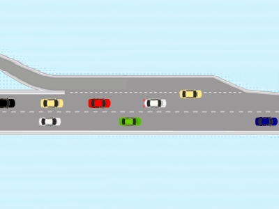 合流で起こる渋滞