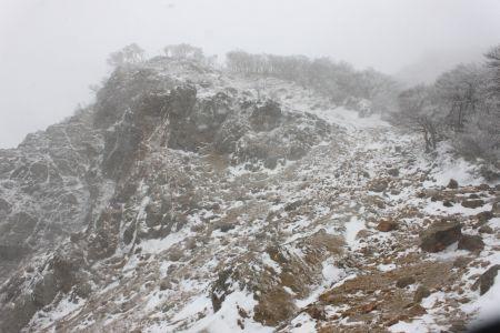 鎌ヶ岳岩場