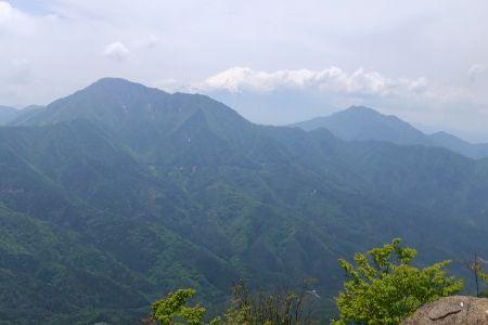 赤岩から富士山