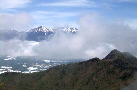 男山と赤岳横岳