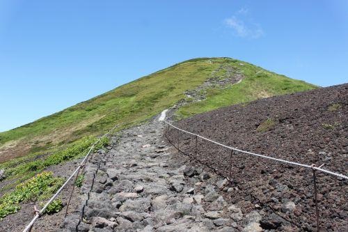 男女岳への登り