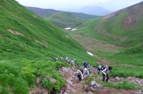 ムーミン谷から登る
