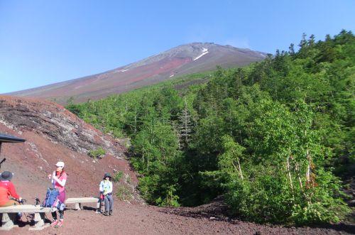 御庭あずまやから富士山