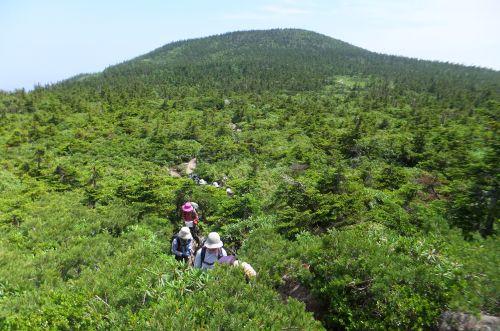 天狗岩への登り