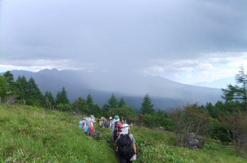 八ヶ岳方面の雨