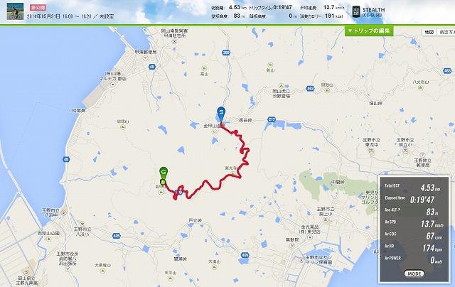 20140531練習金甲山ヒルクライムタイムアタック