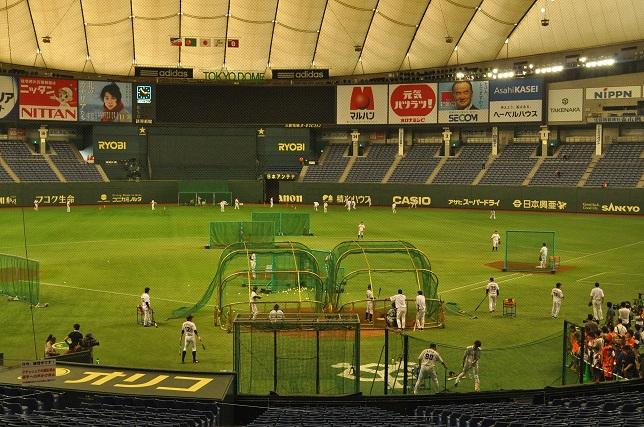 東京ドーム 練習風景